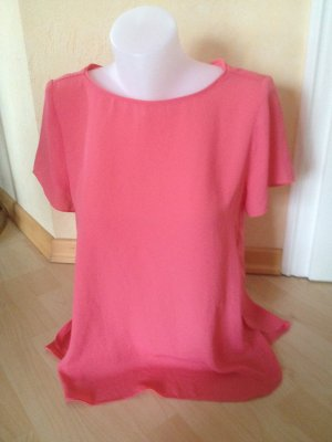 Esprit / Edc T-Shirt Gr 38 Rosa fließende Bluse