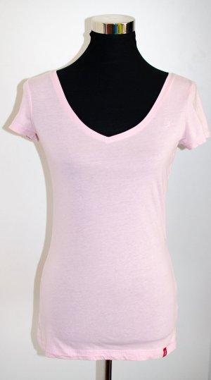 ESPRIT EDC T-Shirt mit V-Ausschnitt, rosa, ungetragen, tolle Passform, Gr. S / 36