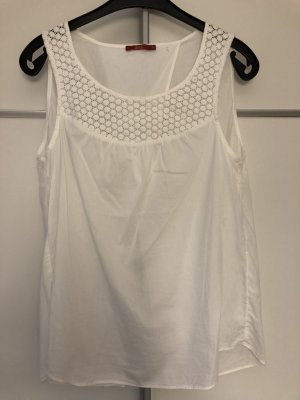 edc by Esprit Top a uncinetto bianco