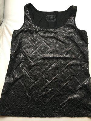 ESPRIT edc Top mit Pailetten, schwarz, Gr. XL, NEU und ungetragen