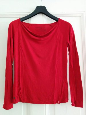 Edc Esprit Waterval shirt donkerrood-rood Viscose