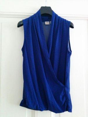 Esprit edles Top transparenter Rücken elegant sexy blau Gr. XS NEU