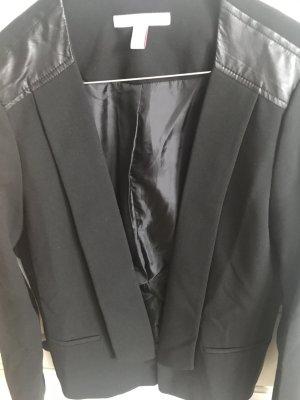 Esprit- Eleganter Blazer mit Lederdetails