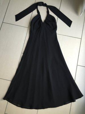 ESPRIT, elegantes fließendes Neckholder-Kleid, schwarz, Gr. 38, TOP!