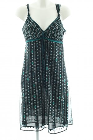 Esprit Empire Dress turquoise-green allover print casual look