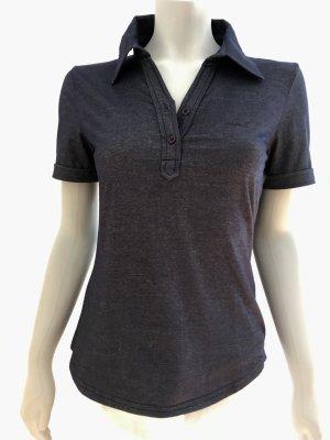 ESPRIT Enganliegendes Polo-Shirt Polokragen T-Shirt blau dunkelblau Gr. S