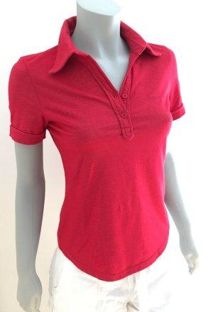 ESPRIT Enganliegendes Polo-Shirt Polokragen T-Shirt rot Gr. S