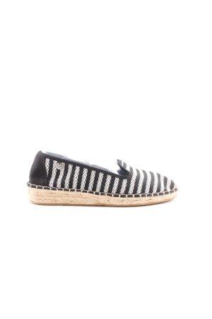Esprit Espadrilles-Sandalen schwarz-weiß Streifenmuster Casual-Look