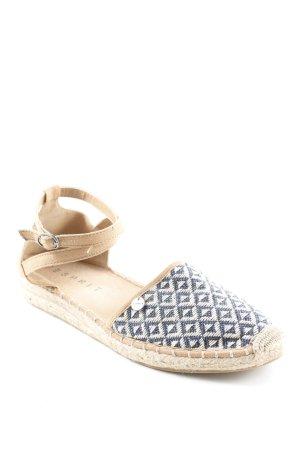 Esprit Espadrille Sandals zigzag pattern hippie style