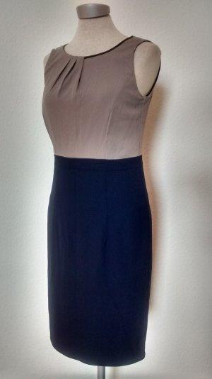 Esprit Etuikleid business Kleid Gr. 34 XS blau grau Bleistiftkleid neu! Büro