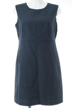 Esprit Etuikleid dunkelblau-weiß Punktemuster Casual-Look