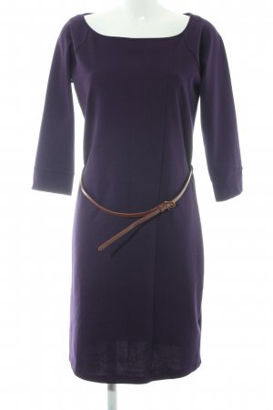 Esprit Etuikleid dunkelviolett-cognac Business-Look