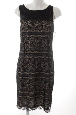 Esprit Etuikleid schwarz-creme abstraktes Muster Elegant