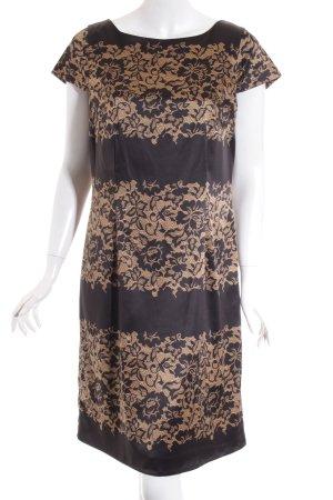 Esprit Etuikleid schwarz-sandbraun florales Muster Elegant