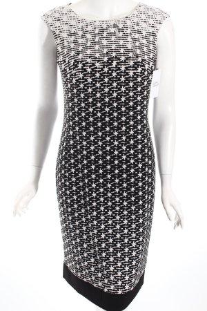 Esprit Etuikleid schwarz-weiß abstraktes Muster extravaganter Stil