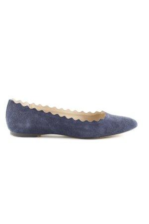 Esprit faltbare Ballerinas blau Casual-Look