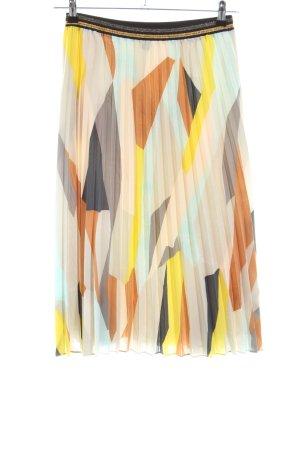 Esprit Faltenrock abstraktes Muster Business-Look