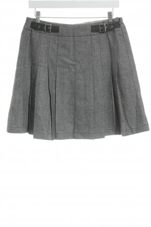 Esprit Falda a cuadros gris-blanco diseño de espiga look Street-Style