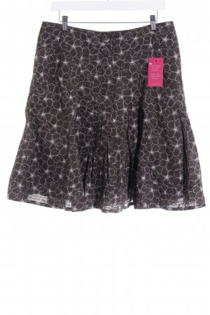 Esprit Faltenrock graubraun-hellgrau florales Muster Casual-Look