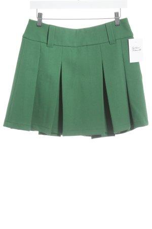 Esprit Faltenrock grün Casual-Look