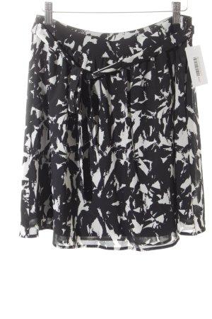 Esprit Faltenrock schwarz-weiß Allover-Druck Casual-Look