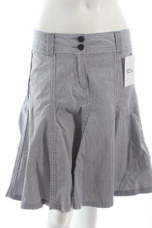 Esprit Faltenrock weiß-stahlblau Streifenmuster klassischer Stil
