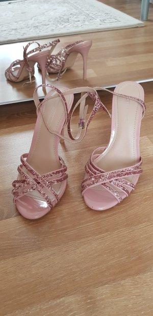 Esprit feine rose high heels neu