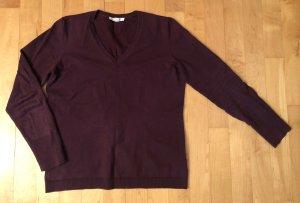 Esprit Feinstrick Pullover bordeaux weinrot burgund L 40 w. Neu
