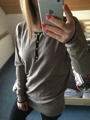 Esprit Feinstrick-Pullover grau-braun