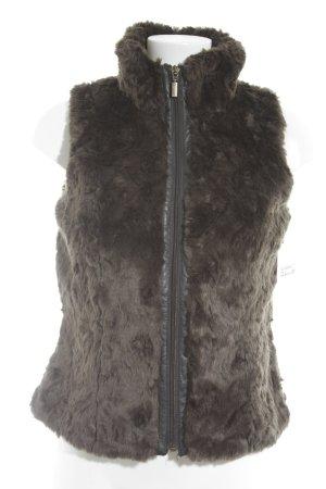 Esprit Smanicato di pelliccia marrone scuro stile casual