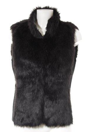 Esprit Smanicato di pelliccia nero stile casual