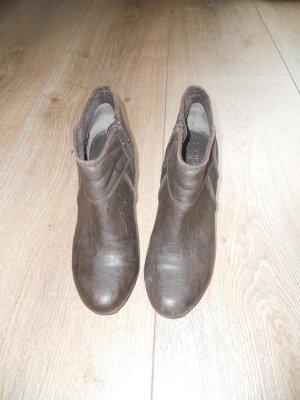 ESPRIT Finus Ankle Bootie Gr. 39 braun Keilabsatz
