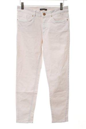 Esprit Pantalone cinque tasche rosa chiaro-bianco stile casual