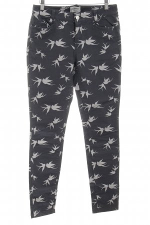 Esprit Five-Pocket Trousers black-natural white themed print casual look