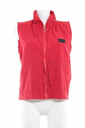 Esprit Fleeceweste rot Casual-Look