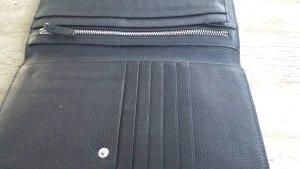 Esprit, Geldtasche, schwarzes genarbtes Leder, Neu