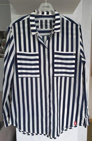 Edc Esprit Blusa larga blanco-azul oscuro