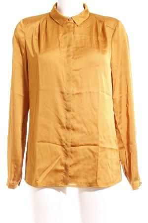 Esprit Blouse brillante orange doré élégant