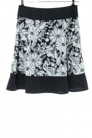 Esprit Flared Skirt black-white flower pattern elegant