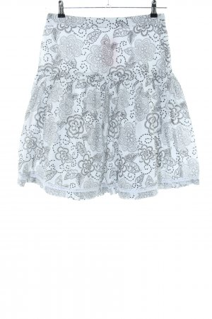 Esprit Flared Skirt light grey allover print casual look