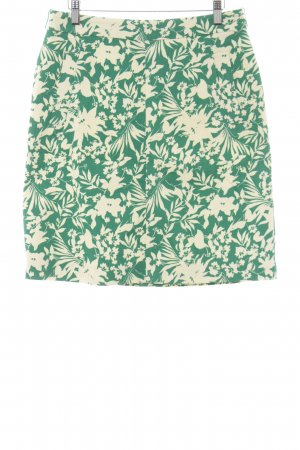Esprit Glockenrock waldgrün-creme florales Muster Casual-Look