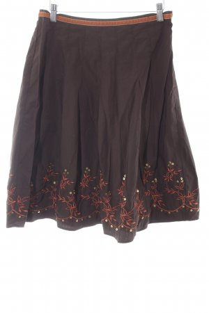 Esprit Godet Skirt dark brown-orange casual look