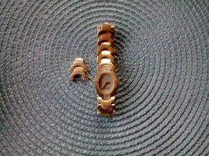 Esprit goldene Armbanduhr eleganter Style mit neuer Batterie