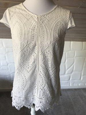 Esprit Gr. S Stick- Shirt Offwhite