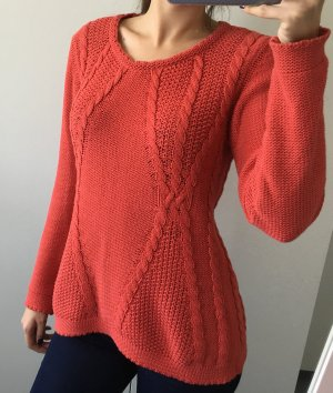 Esprit grobstrick-Pullover in Orange