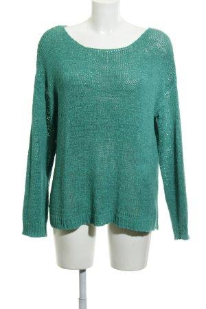 Esprit Grof gebreide trui groen losjes gebreid patroon casual uitstraling