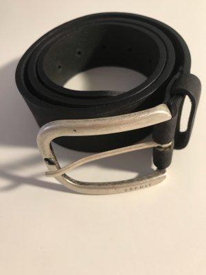 Esprit Cintura di pelle nero-argento