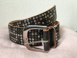 Esprit Gürtel schwarz Leder mit Nieten