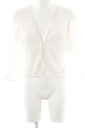 Esprit Cardigan en crochet blanc cassé style décontracté