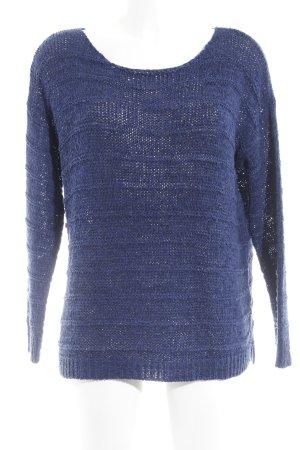 Esprit Pullover all'uncinetto blu Motivo a maglia leggera stile casual